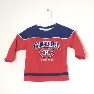 Montreal Canadiens Toddler 18 months Hockey Long Sleeve Jersey NHL Red & Blue